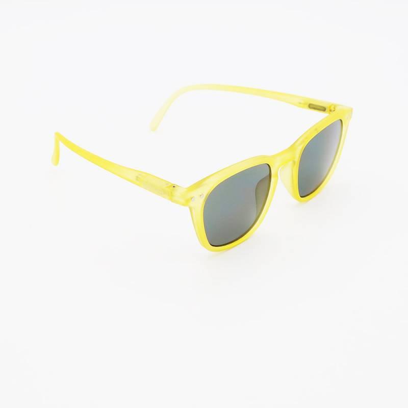 Lunettes de soleil carrées jaunes izipizi junior #e pour