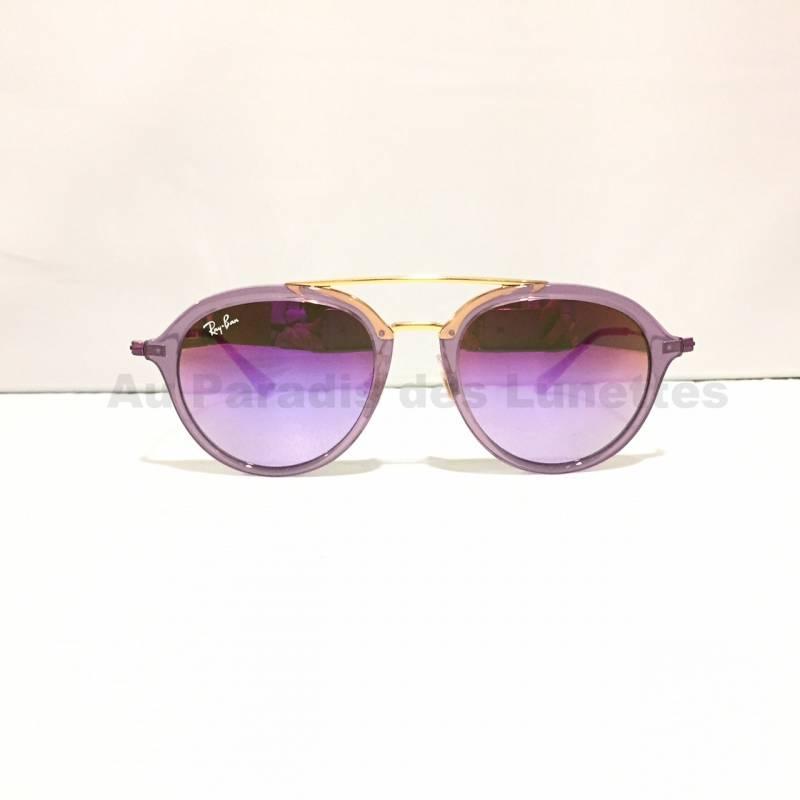 169f4d379c7ab2 Lunettes de soleil enfants ray-ban pilote violet translucide - Au ...