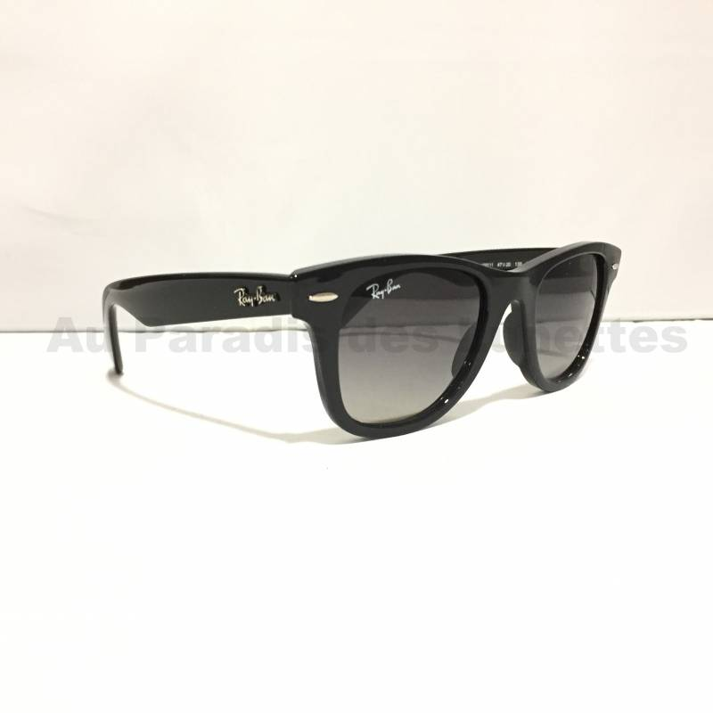 lunettes de soleil enfants ray ban wayfarer junior noires au paradis des lunettes. Black Bedroom Furniture Sets. Home Design Ideas