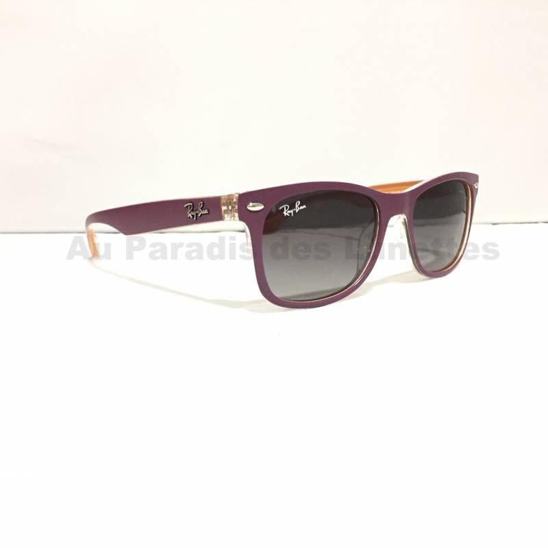 lunettes de soleil enfants ray ban wayfarer junior prune au paradis des  lunettes 7af64cfbd338