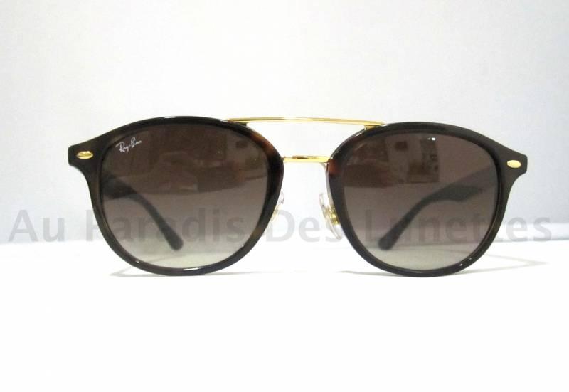 lunettes de soleil ray ban coloris caille double pont dor au paradis des lunettes. Black Bedroom Furniture Sets. Home Design Ideas