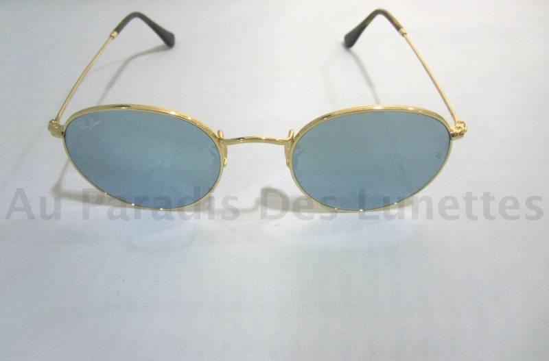 Lunettes de soleil ray ban forme ronde verres miroirs - Miroir en forme de lunette ...