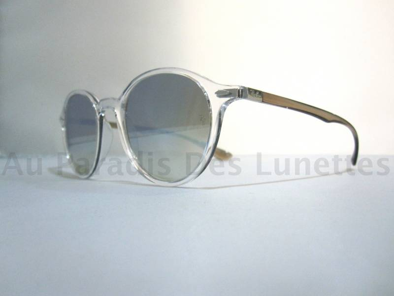 ray ban ronde argent 21429264376f