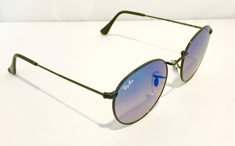 lunette ray ban ronde bleu