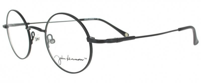Lunettes de vue John Lennon, ronde en métal noir