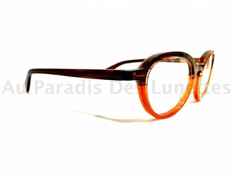 Lunettes de vue matttew en acétate bicolore, maron et orange, forme ... 140024d9932f