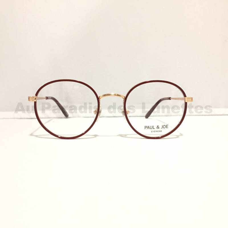 lunettes de vue en or rose Paul and joe
