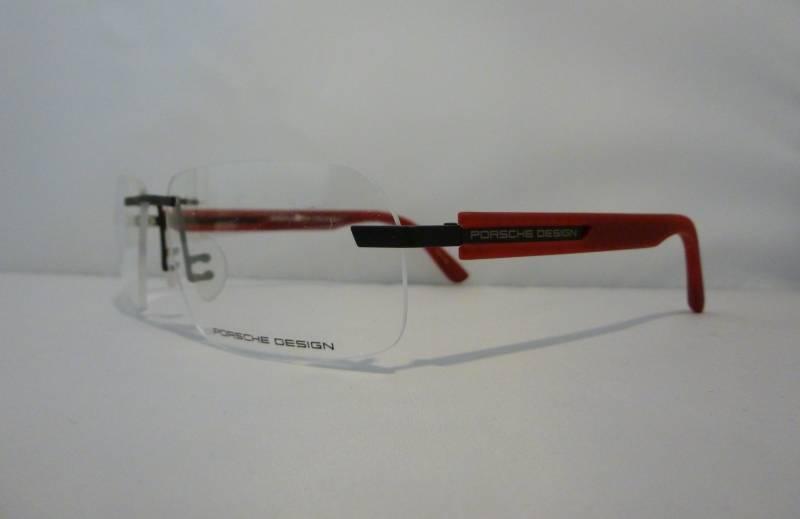 lunettes de vue porsche design branches en gomme rouge au paradis des lunettes. Black Bedroom Furniture Sets. Home Design Ideas