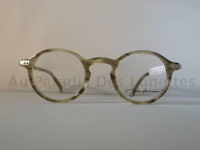 d6e1df60e99f3d Lunettes de vue ronde John Lennon couleur beige marbré. cliquez sur les  images pour les agrandir