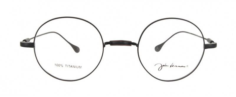 Lunettes John Lennon sans plaquette Titane Noires