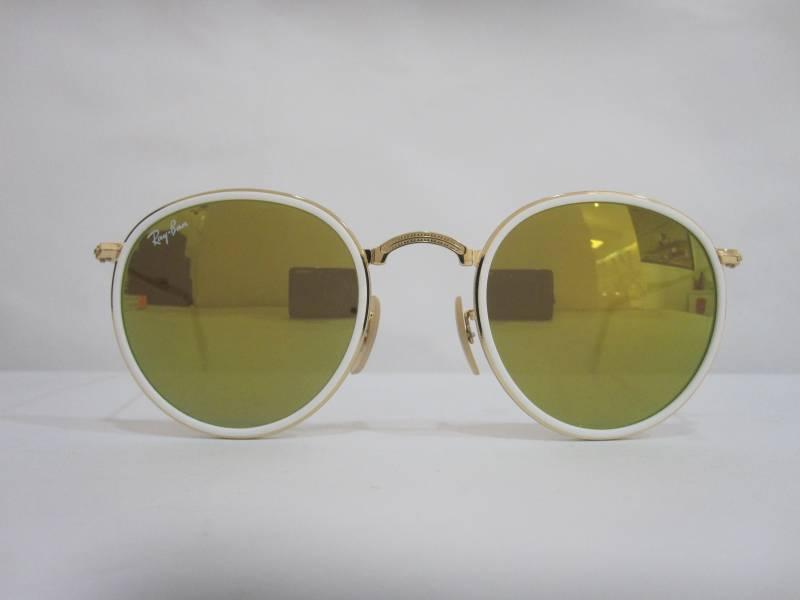 Vue de face lunettes de soleil Ray-Ban rondes et pliantes