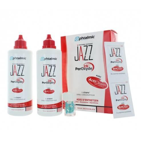 Ophtalmic produit d'entretien lentilles Jazz Peroxyde