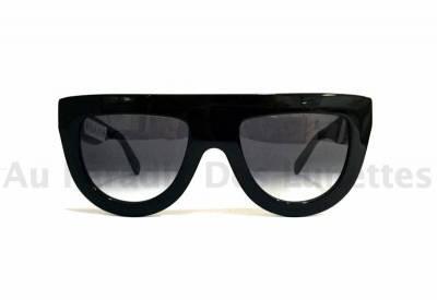 lunettes de soleil c line noire droite sur le haut de la face au paradis des lunettes. Black Bedroom Furniture Sets. Home Design Ideas