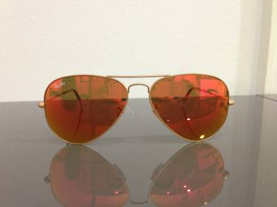 Ray Ban aviateur verres miroirs Rouges