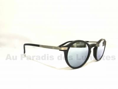 profil lunettes de soleil rondes John Lennon verres miroirs