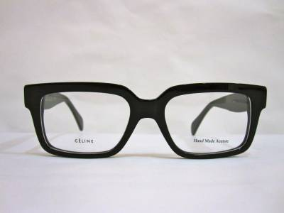 lunettes de vue rectangulaires noires C�line