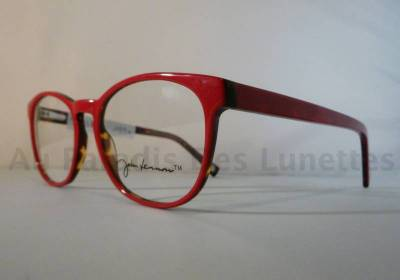 Lunettes de vue John Lennon rouge intérieur écaille