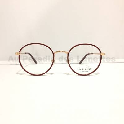 lunettes de vue en or rose Paul and joe