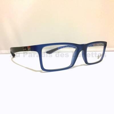 profil lunettes de vue RayBan bleu mat