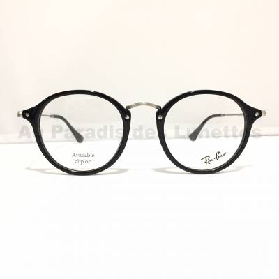 lunettes round fleck rayban