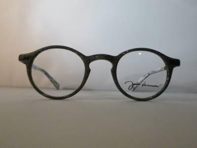 Lunettes de vue ronde John Lennon couleur gris clair brossé