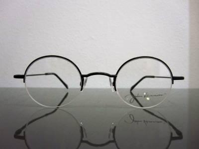 Lunettes de vue rondes demi-cercl�es John Lennon noires