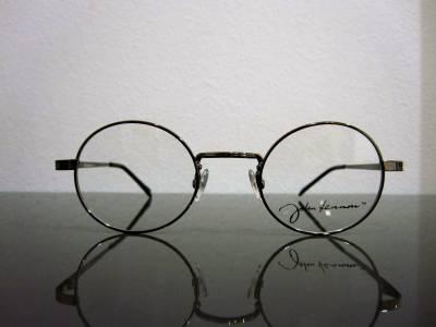 Lunettes de vue rondes argent brillant John Lennon