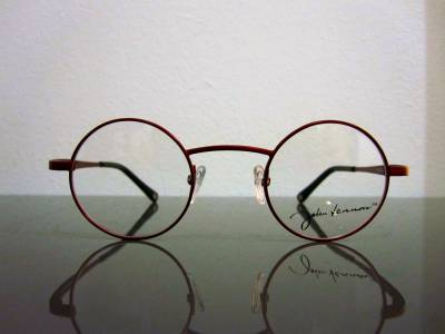 Lunettes de vue John Lennon rouges