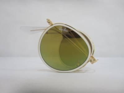 Vue de profil lunettes de soleil Ray-Ban rondes et pliantes